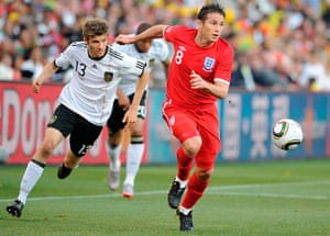 England kits: Frank Lampard against Germany
