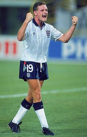 England kits: Paul Gascoigne