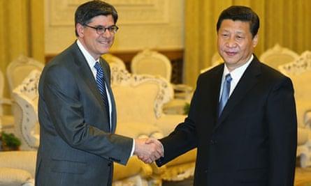 Xi Jinping and Jacob Lew