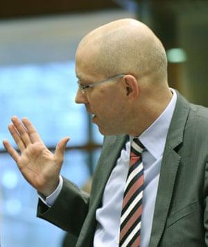 ECB board member Joerg Asmussen. Photograph: AFP/Getty Images/George Gobet