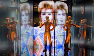 For those not yet Bowied out, here's his 'Starman' costume from a 1972 Top of the Pops appearance displayed at the 'David Bowie Is' exhibition at the V&A museum in central London.