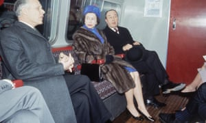 Here she is in March 1969 travelling on the tube after the official opening ceremony of London Underground's Victoria Line, 7th March 1969.