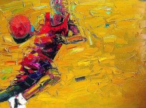 Beautiful Games: Painting by Tafa