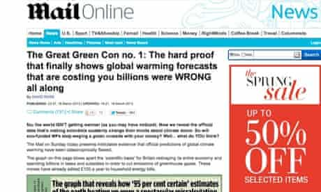 Mail on Sunday 'great green con' article