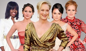 Michelle Obama, Jennifer Lawrence, Meryl Streep, Mila Kunis and Adele