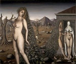Witches: L'Appel de la Nuit by Paul Delvaux, 1938