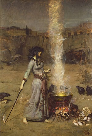 Witches: John William Waterhouse, The Magic Circle, 1886