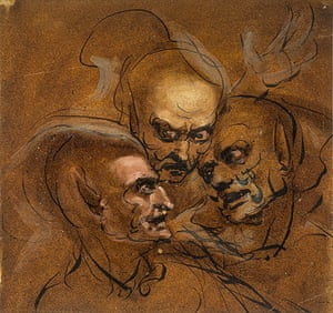 Witches: John Runciman's study of Three Satyrs Heads