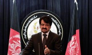 Afghan defence ministry spokesman General Zahir Azimi announces the deal