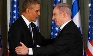 Obama and Netanyahu at their press conference.
