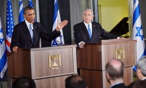President Obama and Israeli Prime Minister Netanyahu take questions from the press at the end of Obama's first day in the Middle East.