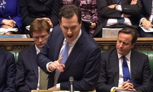 George Osborne delivers his budget to the House of Commons