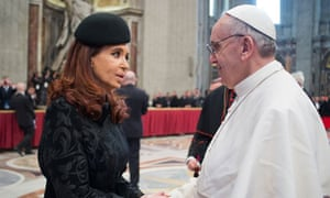 Pope Francis and Cristina Fernandez