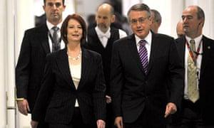 Julia Gillard remains as prime minister and Wayne Swan her deputy