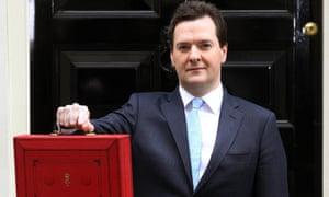 George Osborne outside 11 Downing Street yesterday.