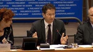 Jeroen Dijsselbloem, at European Parliament,