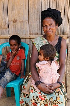 IJDC: Francisca, 30, at Estado village, Ermera district, Timor Leste, 04/09/12.