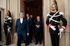 Silvio Berlusconi arrives after a meeting with Italian president Giorgio Napolitano at the Quirinale Palace in Rome