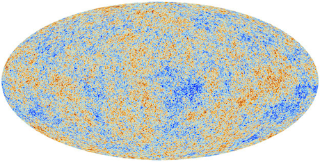 Planck's map of the cosmic microwave background.