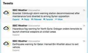 BBC Weather Twitter