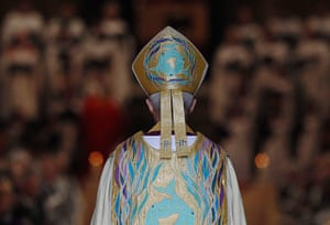 Archbishop enthronement: Justin Welby stands at the West Door