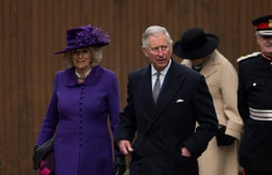 Archbishop enthronement: Prince Charles and his wife Camilla the Duchess of Cornwall arrive