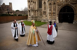 Archbishop enthronement: Archbishop of Canterbury Justin Welby arrives for his enthronement