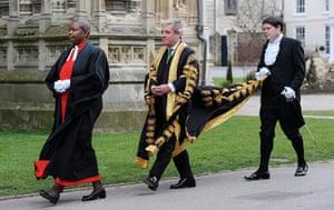 Archbishop enthronement: In full regalia, Speaker of the House of Commons John Bercow arrives