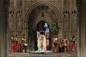 Archbishop enthronement: The Archbishop of Canterbury reads the Gospel according to Matthew