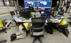 earthquake simulation exercise LA California