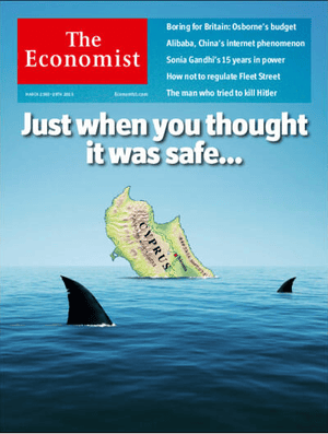 Front page of the Economist, March 21 2013