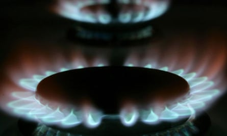 Gas hobs on a cooker