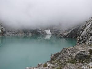 White Lake 513 underneath glacier
