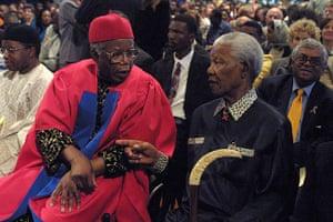 Chinua Achebe gallery: Chinua Achebe and Nelson Mandela