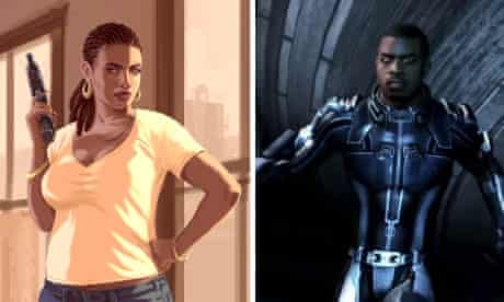 The industry or the players? Black characters from Grand Theft Auto and Mass Effect 3.