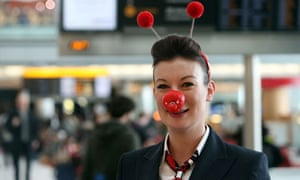 Comic Relief at Heathrow Airport