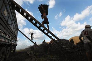 Modern slavery: illegal wood charcoal camp in Amazon, Brazil