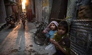 Children in New Delhi