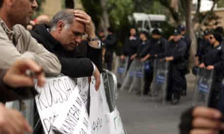 Protesters in Cyprus