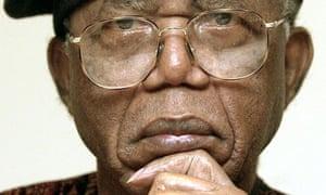 (FILES) Nigerian writer Chinua Achebe gi