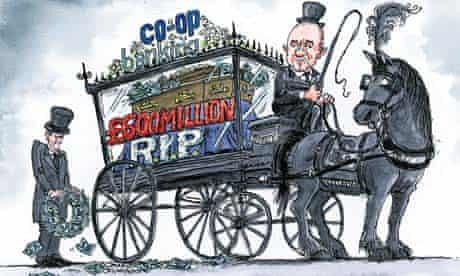 Co-op makes £600m loss: Dave Simonds cartoon