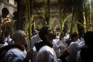 24 hours: Palm Sunday procession at the Church of the Holy Sepulchre