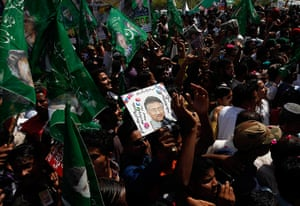 24 hours: Supporters of Pakistan's former President Pervez Musharraf