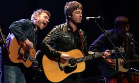Damon Albarn, Noel Gallagher and Graham Coxon
