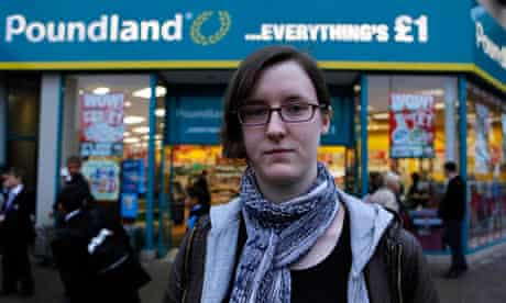 Cait Reilly outside Poundland in Birmingham
