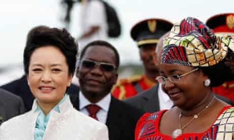 China's First Lady Peng and Tanzania's First Lady Salma