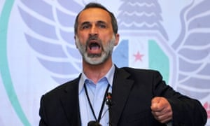 Moaz al-Khatib said he would represent the Syrian people at the Arab League summit in Doha after resigning as leader of the Syrian National Coalition.