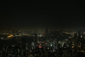 WWF Earth Hour: Building lights along Hong Kong's Victoria Harbour