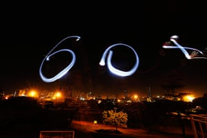 WWF Earth Hour: A light drawing to mark the annual 'Earth Hour' event in Nairobi
