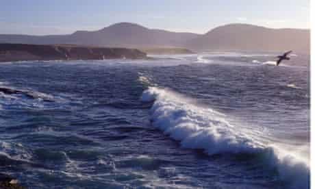 Breckness OUTERTOWN ORKNEY Billia Croo Broad Shore Rack Wick sea waves